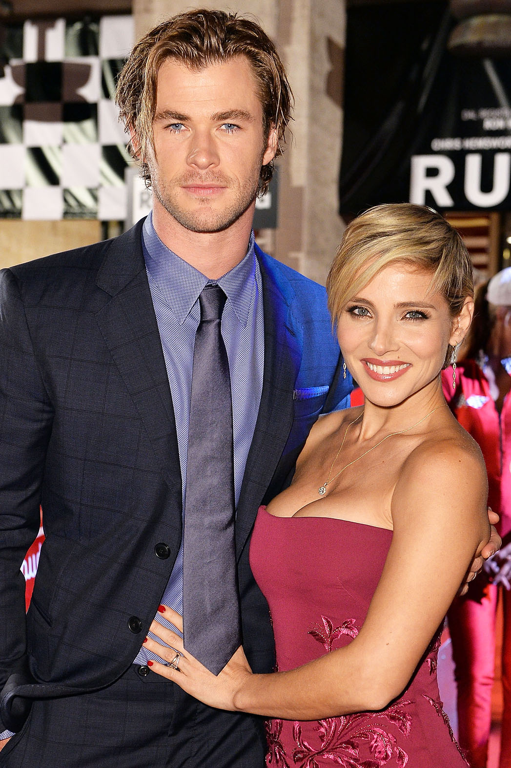 ROME, ITALY - SEPTEMBER 14:  Chris Hemsworth and Elsa Pataky attend 'Rush' The Movie Rome Premiere at Auditorium della Conciliazione on September 14, 2013 in Rome, Italy.  (Photo by Tullio M. Puglia/Getty Images)